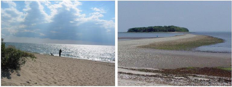Anchor Beach and Charles Island: two locations on Long Island Sound in Milford, Conn.