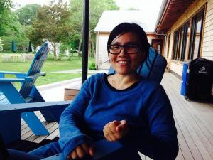 Jennifer Tseng at library