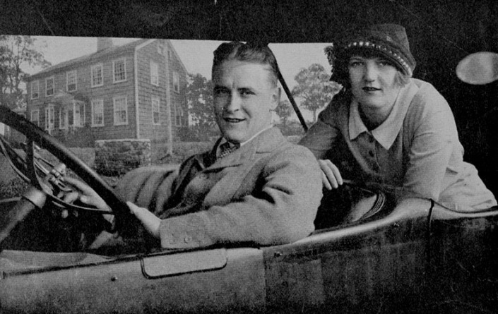 The Fitzgeralds in front of their Westport house.
